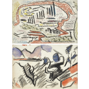 Earle Loran, Abstract Landscapes (a pair)