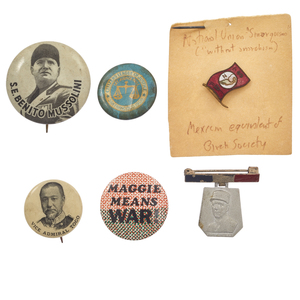 A Collection of International Historical Political Buttons