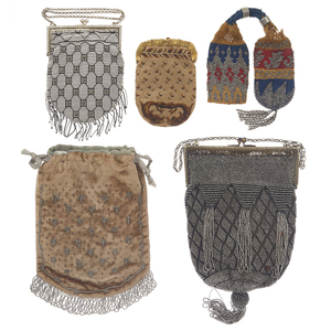 A Collection of Victorian Beaded Handbags