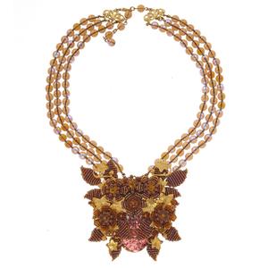Stanley Hagler Glass, Gold-Tone Necklace