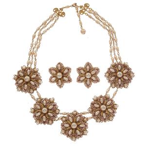 Stanley Hagler Faux Pearl Jewelry Suite