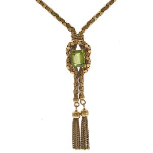 Peridot, 18k Yellow Gold Necklace