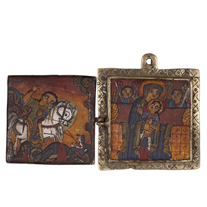 Ethiopian Icon Diptych