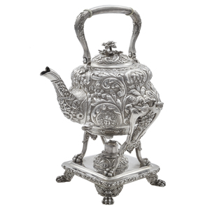 Tiffany & Co. Sterling Tea Kettle on Stand