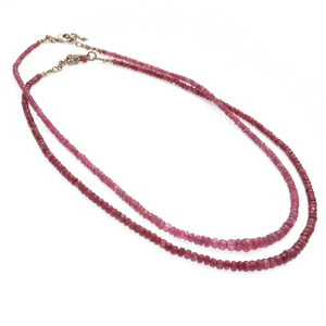 Collection of Two Spinel, Sterling Silver Necklaces