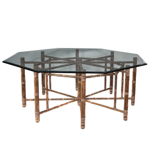 Mid Century Bamboo and Rattan Dining Table