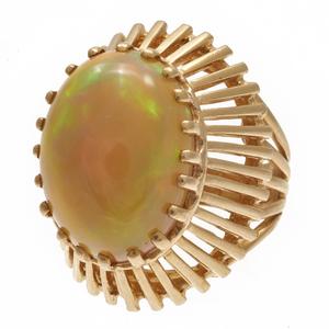 Opal, 14k Yellow Gold Ring