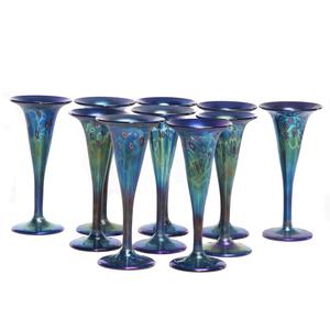 Carl Radke Art Glass Champagne Flutes