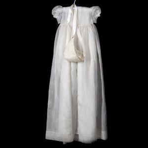 Vintage Silk Organza Christening Gown