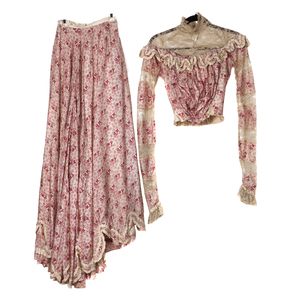 Victorian Silk and Lace Dress