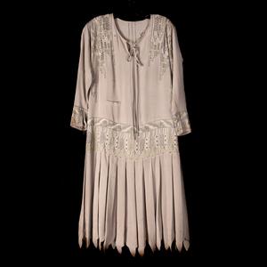 1920's Vintage Beaded Silk Dress