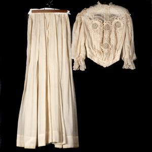 Victorian Linen and Lace Dress