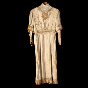 Edwardian Embroidered Linen Dress