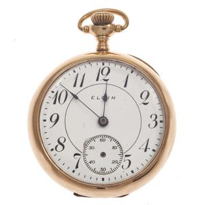 Ladies Elgin 14k Yellow Gold Pocket Watch