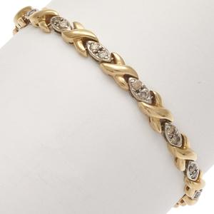 Diamond, 14k Yellow and White Gold Bracelet