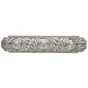 Edwardian Diamond, Platinum Bar Pin