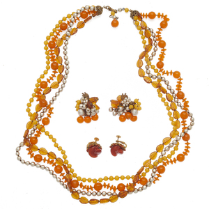 Collection of Miriam Haskell Jewelry