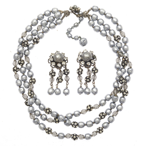 Miriam Haskell Faux Pearl Jewelry Suite