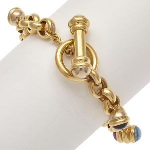 Multi-Stone, 18k Yellow Gold Bracelet