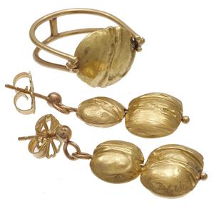 Carrie Adell 18k, 14k Ring and Earrings