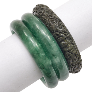 Collection of Jade, Nephrite Bangle Bracelets