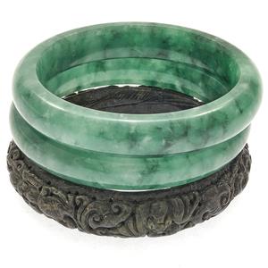 Collection of Jade, Nephrite Bangle Bracelets