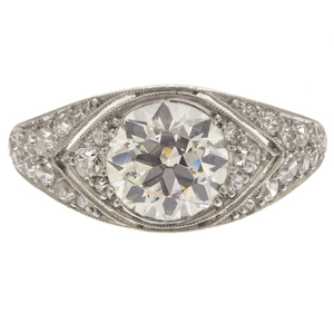 Cartier Art Deco Diamond, Platinum Ring