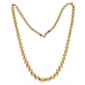 Victorian 14k Yellow Gold Bead Necklace