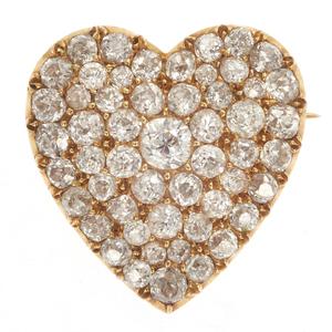 Diamond, 18k Yellow Gold Pin Pendant