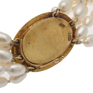 Gump's Tourmaline, Fresh Water Pearl, 18k Necklace