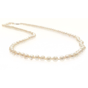 Cultured Pearl, 14k White Gold Necklace