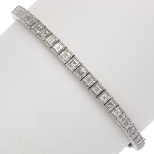 Diamond, Platinum Line Bracelet
