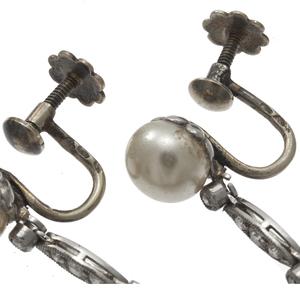 Pair of French Art Deco Diamond Earrings
