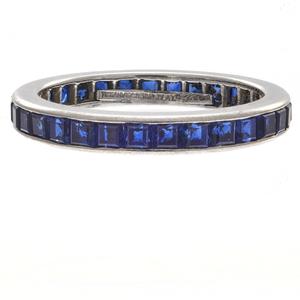 Tiffany & Co. Sapphire, Platinum Eternity Ring