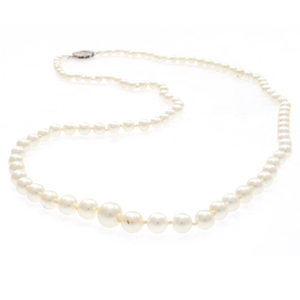 Cultured Pearl, Diamond, 14k Necklace