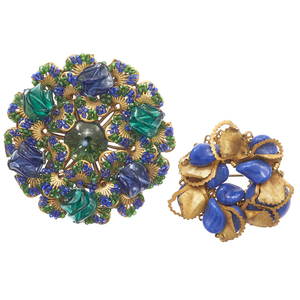 Group of Two Miriam Haskell Brooches
