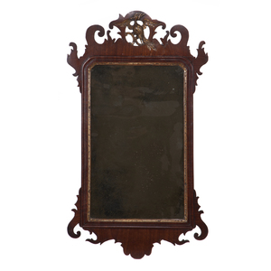George III Gilt and Mahogany Mirror