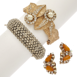 Collection of Hobe Rhinestone Jewelry Items