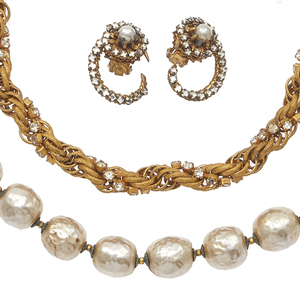 Collection of Miriam Haskell Jewelry Items
