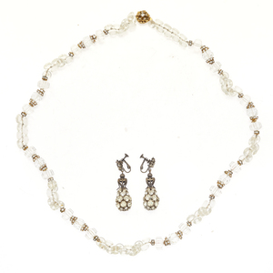 Vintage Miriam Haskell Necklace and Pair of Earrings