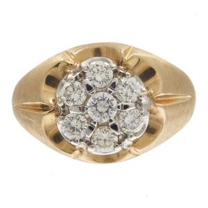 Gent's Diamond, 14k Yellow Gold Ring