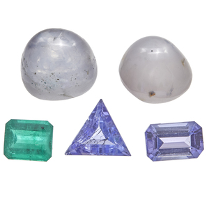 Collection of Unmounted Tanzanite, Emerald, Star Sapphires