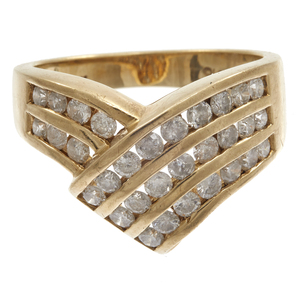 Diamond, 10k Yellow Gold Ring