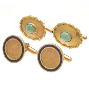 Collection of 14k Yellow Gold Cufflinks