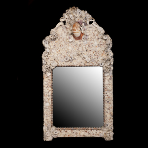 Victorian Style Shell Encrusted Mirror
