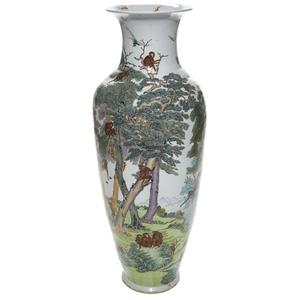 Massive Famille Rose Vase