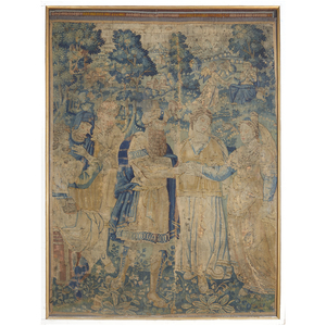 French Baroque Tapestry Fragment