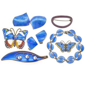 Collection of Scandinavian Enamel Jewelry