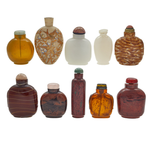 Eleven Glass Snuff Bottles