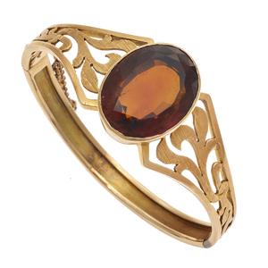 Citrine, 14k Rose Gold Bracelet